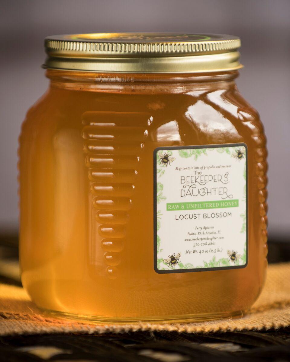 Locust Blossom Raw Honey – 2 5lb Jar – The Beekeeper's