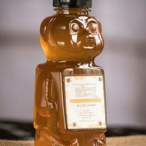wildflower raw honey bear