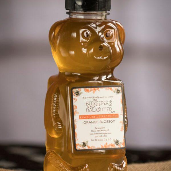 orange blossom raw honey bear