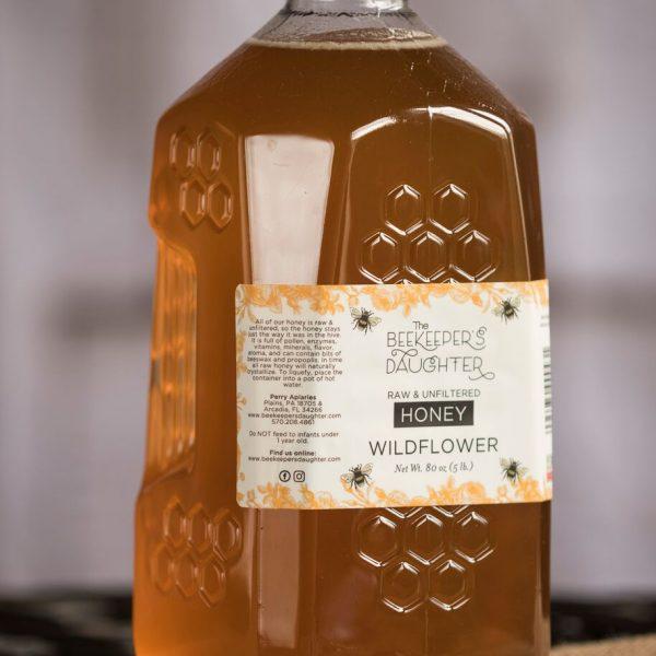 wildflower-raw-honey-5lb-jar